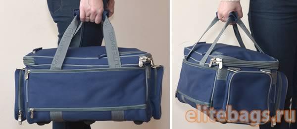 Переноска сумки за ручки