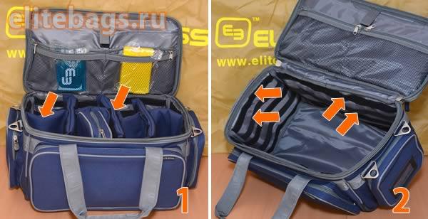 Отсеки и карманы сумки неотложной помощи